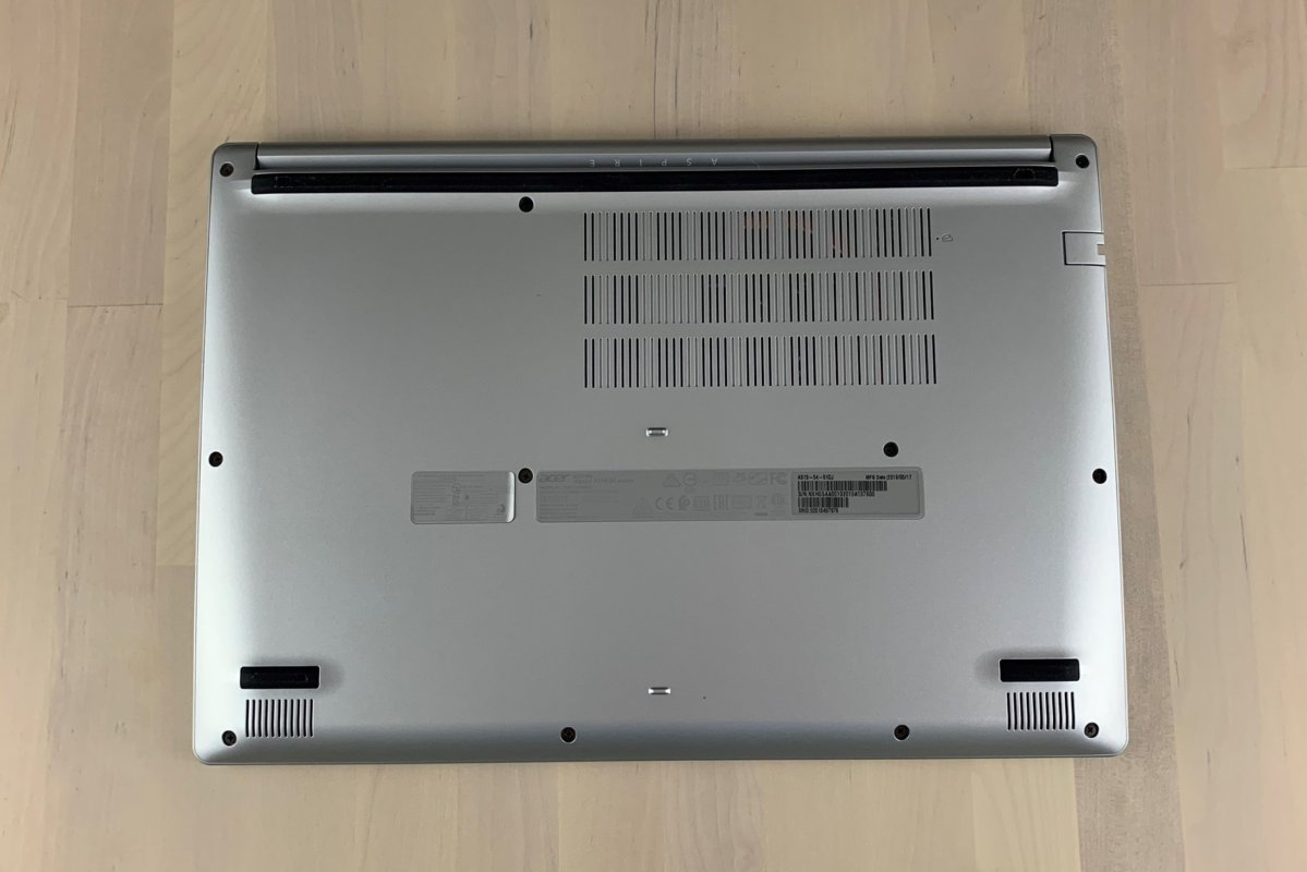 acer aspire 5 51dj bottom