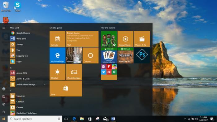 Windows 10 Creators Update - folder closed