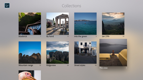 lightroom appletv collections