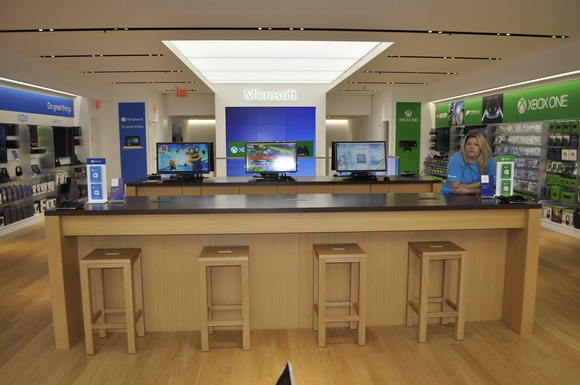 Microsoft's Fifth Avenue store in Manhattan