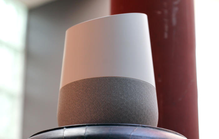 google home looking up