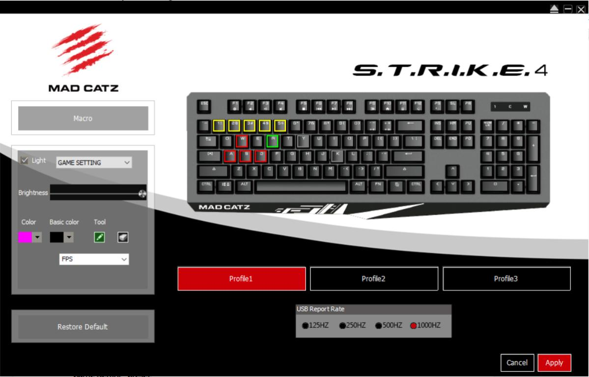 Mad Catz Strike 4 - Software