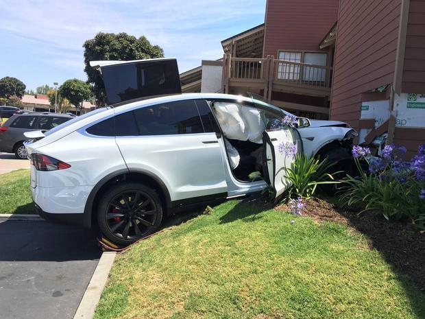 Model X crash
