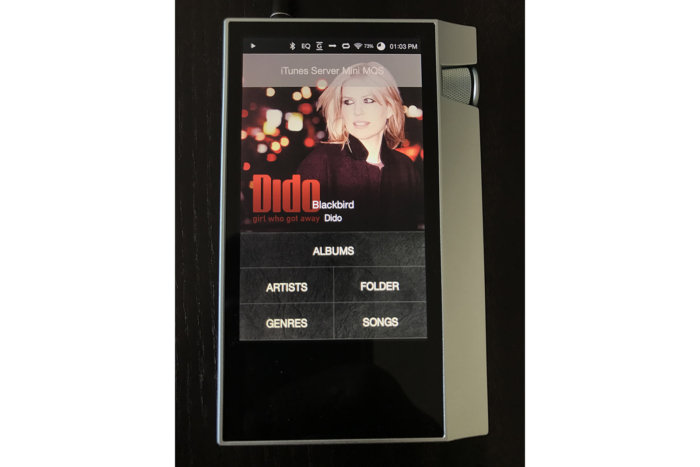 I was able to connect to any DLNA server. Here, I connected to iRiver's MQS Server and played music