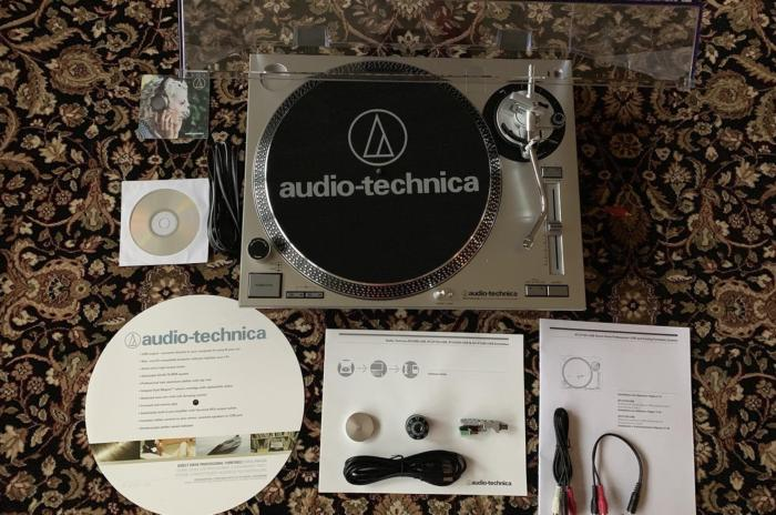 The Audio Technica packaging made assembling the turntable a breeze.