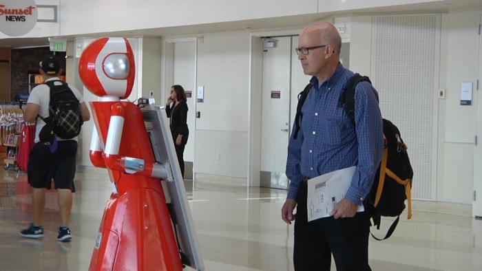 san jose airport robots