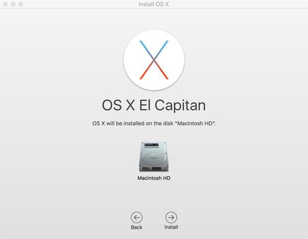 OS X 10.11 installer