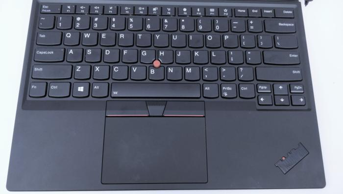 Lenovo ThinkPad X1 Tablet 2018 keyboard straight on