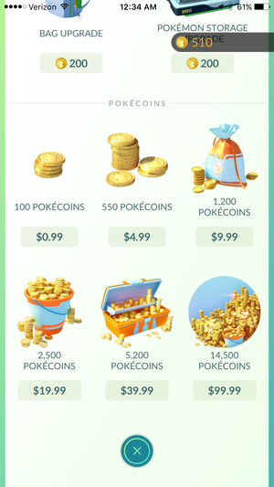 pokemon go coinpacks