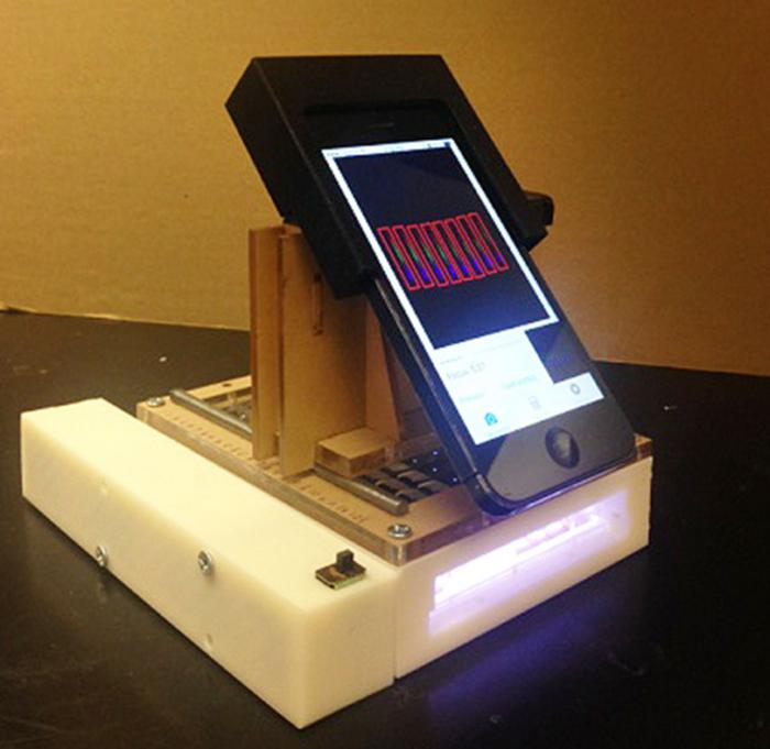 Smart phone cancer spectrometer