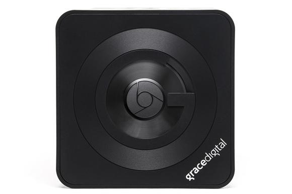 CastDock X2 with Chromecast in place