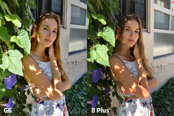 LG G6 vs Apple iPhone 8 Plus clarity4