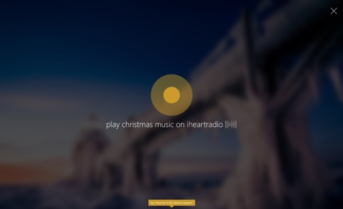 cortana christmas music