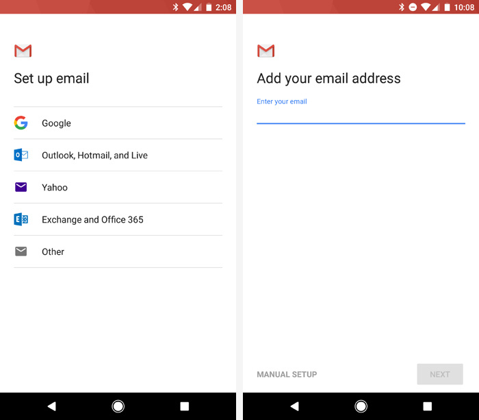 iPhone to Android switch - email setup in Gmail app