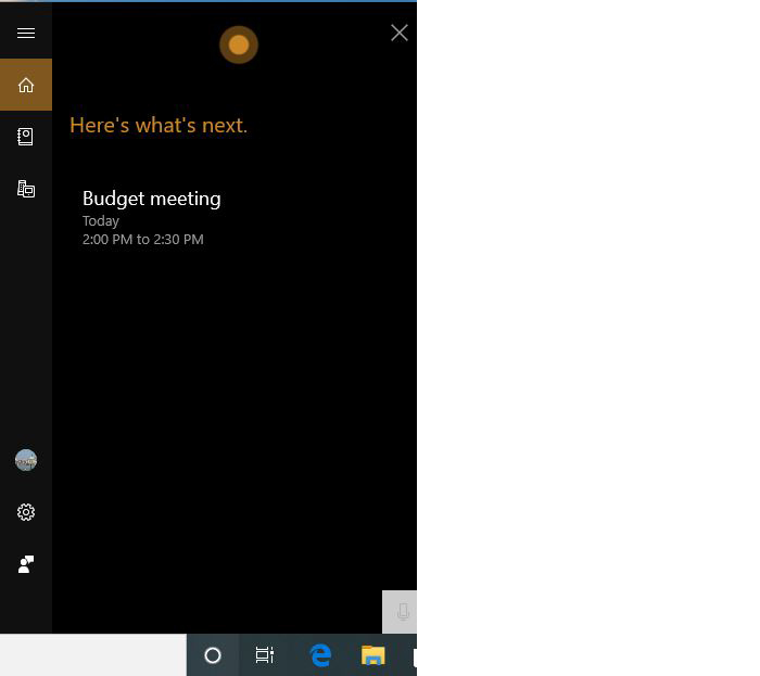 win10 v1903 review cortana results