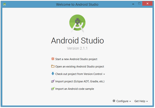 Create a new Android Studio project, work with an existing Android Studio project, and more.