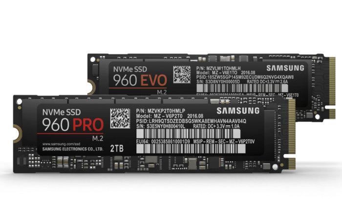 Samsung 960 Pro 960 EVO PCIe SSD