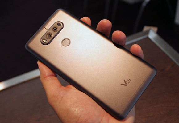 lg v20 rear case in hand