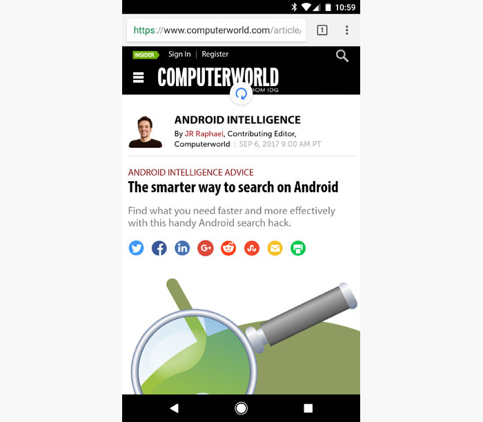 Android shortcuts - refreshing Chrome browser