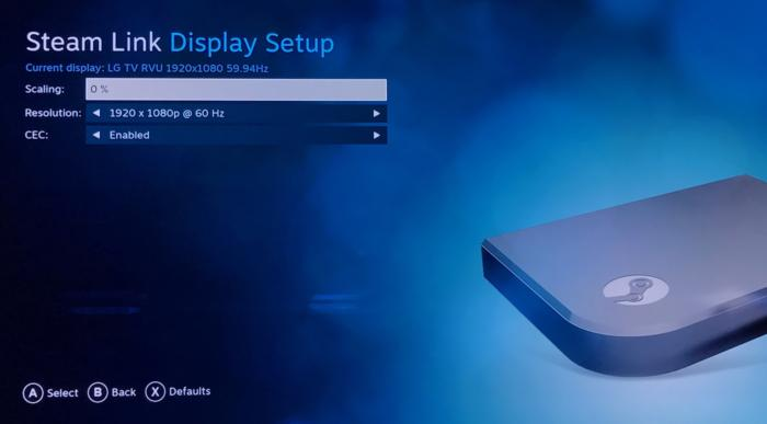 steam link 3 display setup b
