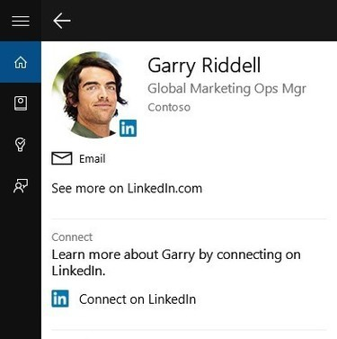 LinkedIn Cortana integration