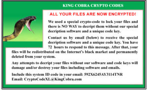 01 king cobra crypto codes