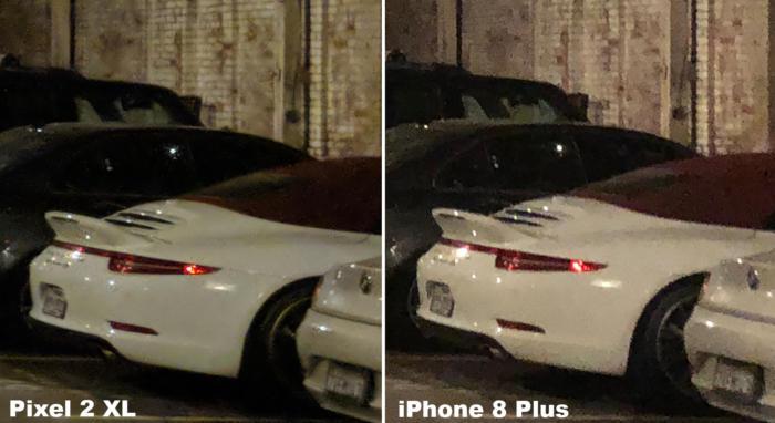 pixel 2 xl versus iphone 8 plus low light close up