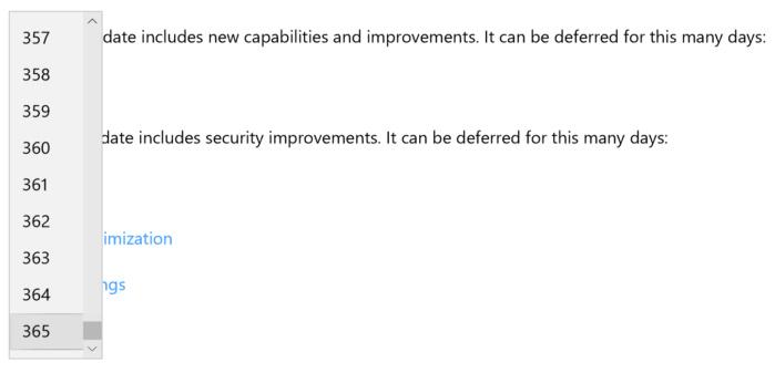 Windows 10 Pro defer feature updates