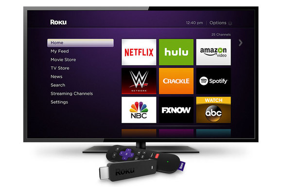 roku streaming stick w roku home screen