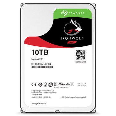 seagate ironwolf hdd 10tb front