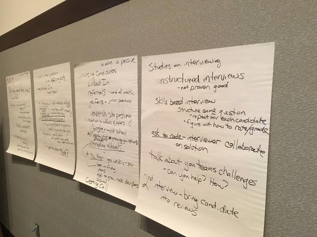 tech job hiring session at mass tlc unconference