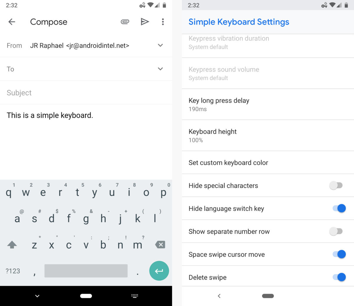 android keyboard apps simple keyboard