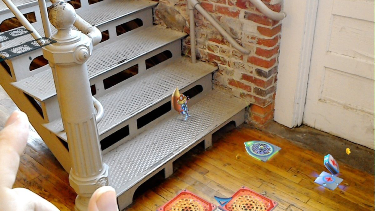 Microsoft HoloLens Young Conker stairs