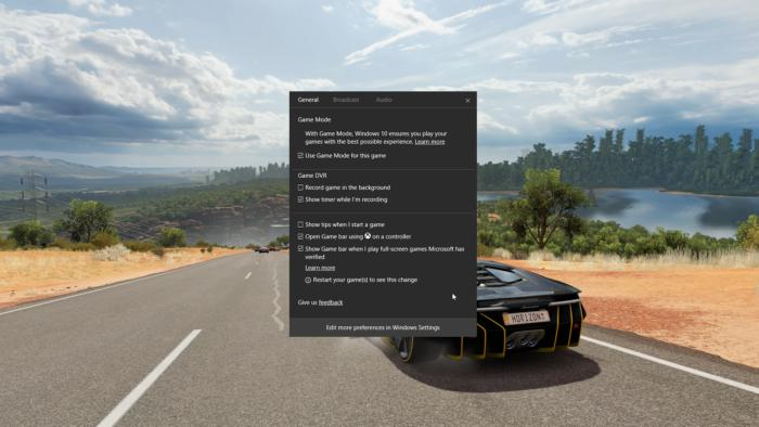 Windows 10 game mode