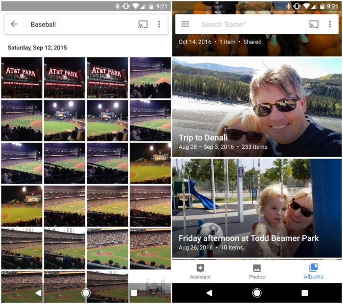 google photos sorting