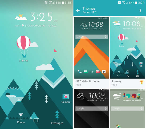 htc 10 review themes