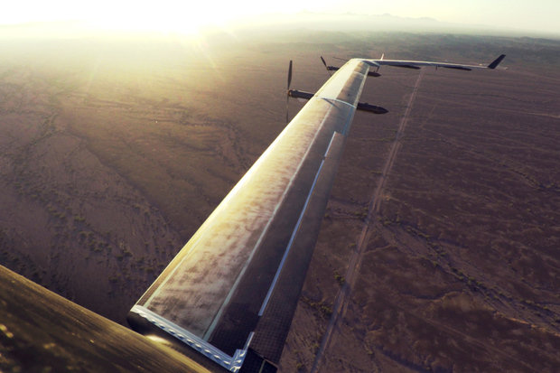 facebook aquila solar plane wing