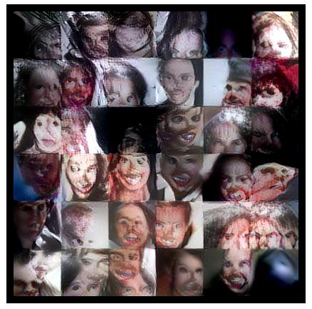 The Nightmare Machine's algorithm generated scary faces