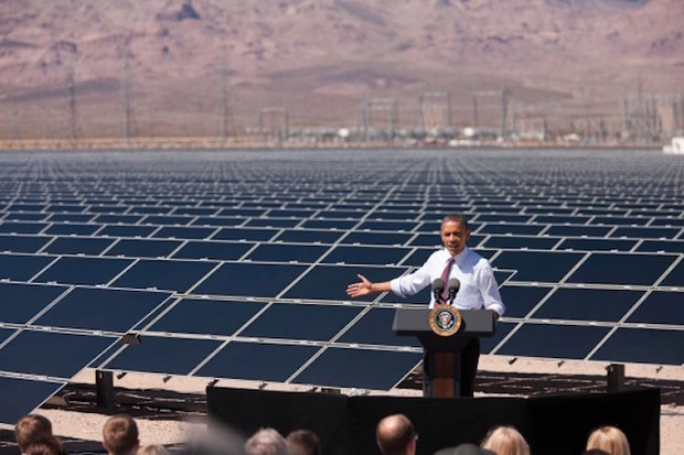 President Barack Obama solar power