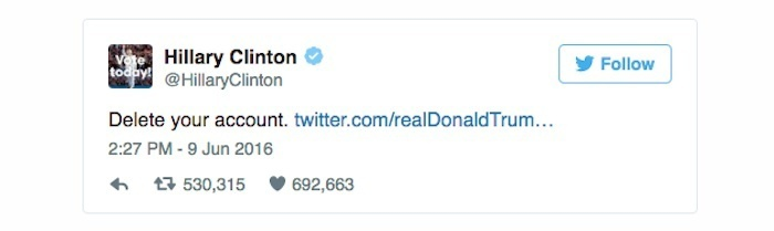 clinton tweet delete