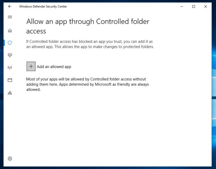 Protected folders Windows 10 fall creators 5
