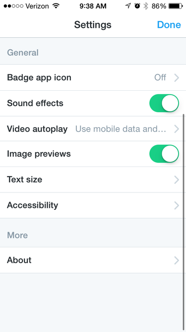 twitter settings autoplay