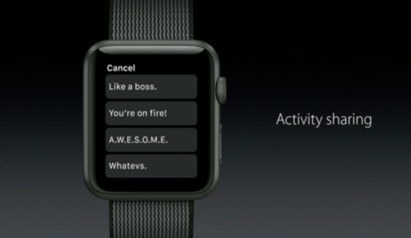 watchos 3 activity sharing