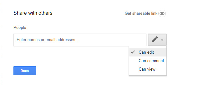 Google Drive collaboration - sharing a document privately