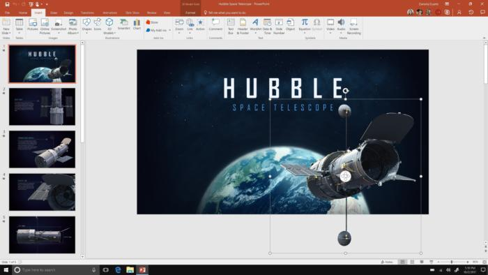 3d in powerpoint screenshot