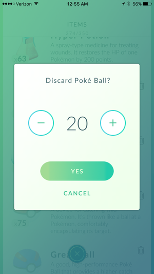 pokemon go drop pokeballs