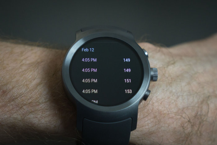 lg watch sport heartrate log