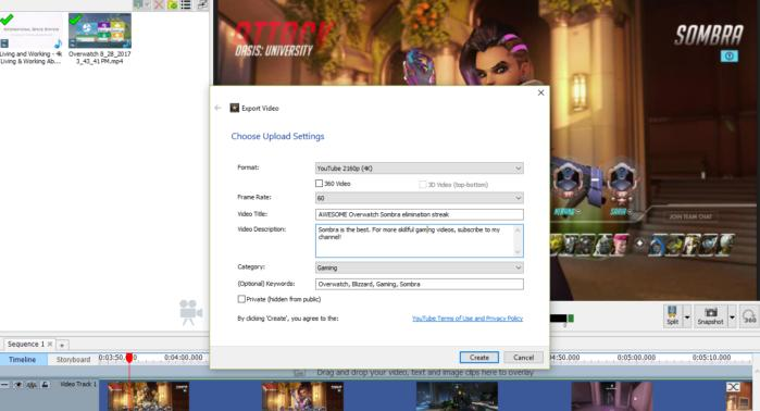 videopad video editor export