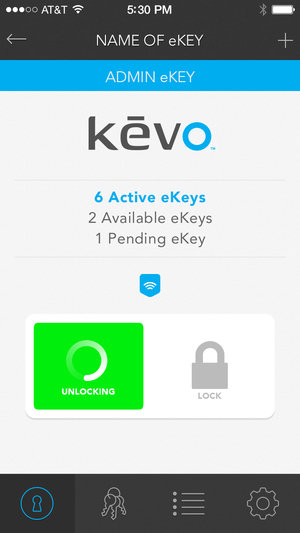 kevo plus unlocking door