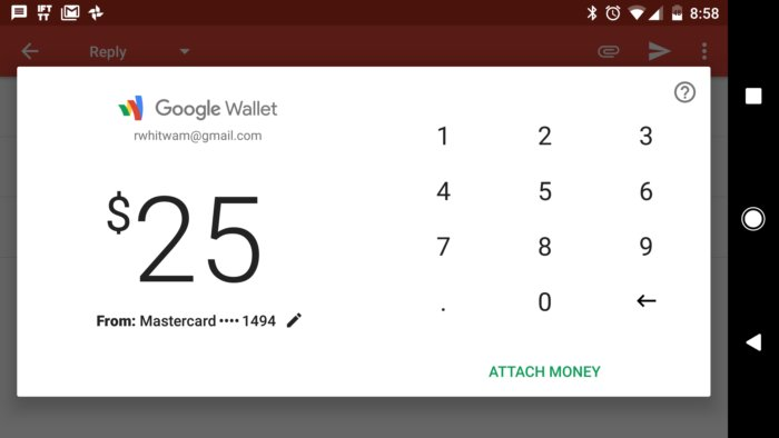 gmail money transfer